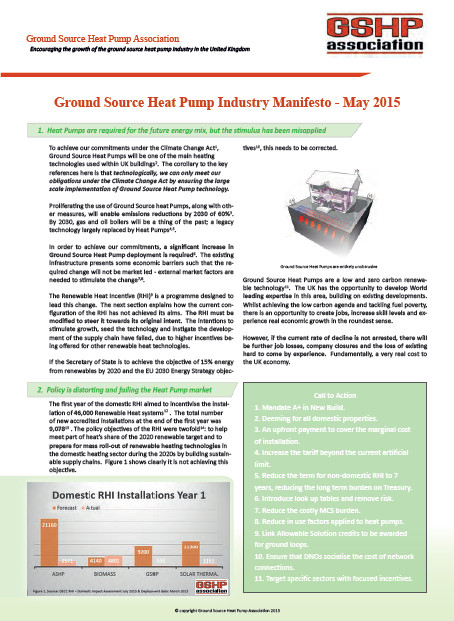 GSHPA Heat Pump Manifesto