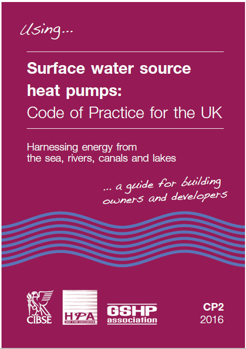 Surface water source heat pump