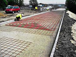 Laying pipe arrays for Interseasonal Heat Transfer